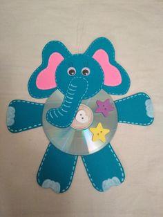 Tvoření z CD - slon