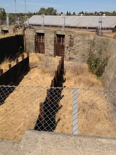 Forebay of the old Folsom Powerhouse that dam and canal at Folsom prison delivered water to.