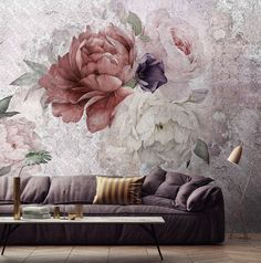 SALE Floral Wallpaper Temporary Wallpaper Loft by WonderWallstore