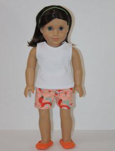 """18 Inch Doll Sleep Shorts Fox 18"""" dolls like American Girl Doll Clothes"""