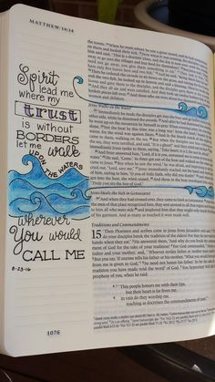 I LOVE THIS ONE; bible verse & song lyric.   Trust, walk on water Matt. 14:22-33.