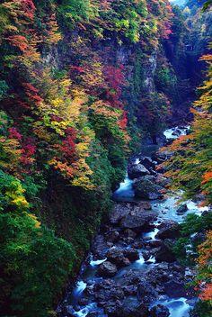 小安峡(秋田) Oyasu Gorge, Akita, Japan