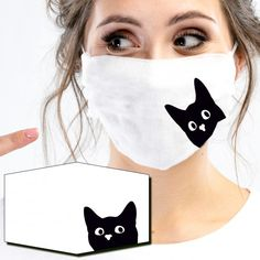 Mund-Nasen-Masken - GREEN SMILE Face Masks For Kids, Easy Face Masks, Cool Masks, Diy Face Mask, Mouth Mask Fashion, Fashion Face Mask, Mouth Mask Design, Sewing Crafts, Sewing Projects