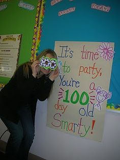 First Grade Frenzy: And we made 100 boys & girls! 100 Days Of School, Too Cool For School, School Holidays, School Fun, School Stuff, Classroom Fun, Classroom Activities, Classroom Projects, Classroom Posters