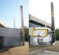 BLU, l'artiste urbain qui métamorphose les façades d'immeubles avec ses peintures engagées