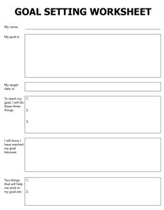 ... network marketing home business and the goal setting worksheet process