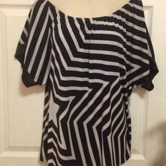 Express top Express top, elastic neck line could be worn off the shoulders Express Tops