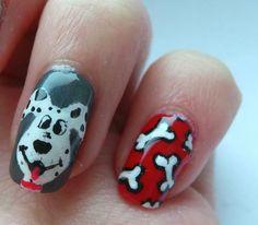 dog nail art designs