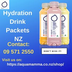 Hydration Drink Packets are easy to carry and affordable to buy. Aquamamma provide a better range of Hydration Drink packs in New Zealand to keep you hydrated. Hydrating Drinks, Drink Bottles, New Zealand, Range, Healthy, Easy, Food, Cookers, Essen