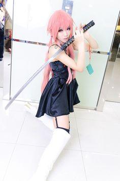 cospla mirai nikki TSUNAKO(綱子) Yuno Gasai Cosplay Photo - WorldCosplay