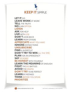 Keep it simple..