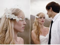 Awesome birdcage veil
