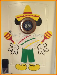 Mexican Mickey Mouse Body Part Magnet For Cruise Door
