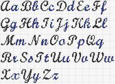 Grille Broderie alphabet