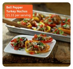 Bell Pepper Nachos - a healthy  tailgating recipe