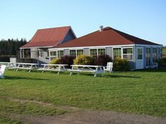 PEI resort accommodations located minutes from Cavendish. Host your PEI conference, wedding, family reunion or special event in our beautiful country setting. Outdoor Venues, Prince Edward Island, Romantic Getaway, Weekend Getaways, Lodges, Beautiful Day, Trip Advisor, Terrace, Restaurants