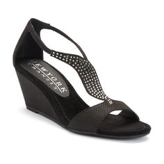 New York Transit Bright Move Women's Wedge Sandals, Black