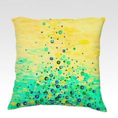 WHAT GOES UP 3 Bold Art velveteen Throw Pillow Decorative Home Decor Colorful Fine Art Toss Cushion, Modern Bedroom Bedding Dorm Room Living Room Style Accessories by EbiEmporium, $75.00
