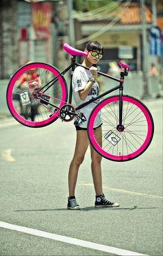 Fixie .. I'm loving pink!
