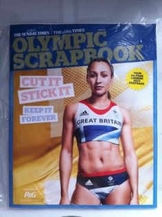 OLYMPIC SCRAPBOOK 44 quality pages. London 2012 keepsake. Mint Condition.