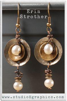 Earrings from Ornamentea customer showcase  love the contrast between elegant pearls and rustic metal