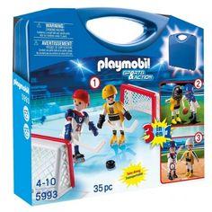Witajcie, Nowość od Playmobil!  Playmobil 5993 dla dzieci od lat 4 - Skrzynka Hokej w podręcznej walizce dla fanów sportów.   W zestawie dwa ludziki, piłki, bramki, kaski.  Co może przechować walizka? Sprawdźcie sami:)  http://www.niczchin.pl/playmobil-city-action-zycie-w-miescie/3051-playmobil-5993-skrzynka-hokej.html  #playmobil #cityaction #zyciewmiescie #zabawki #niczchin #krakow