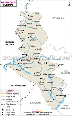Dehradun River Map http://www.mapsofindia.com/maps/uttaranchal/rivers/dehradun.htm