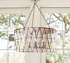 Brass Island Light Fixture: Grace Faceted Pendant #potterybarn #LGLimitlessDesign #Contest