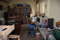 Deborah Bee's weaving studio.