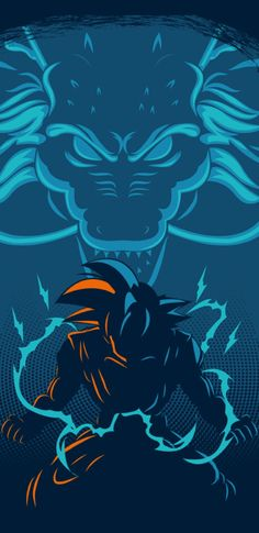 Goku and Shenron Anime Echii, Anime Comics, Anime Art, Dragon Ball Gt, Dragonball Anime, Manga Dragon, Z Wallpaper, Animes Wallpapers, Fan Art