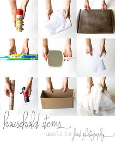 Useful Household Items for Food Photography  {Pinch of Yum}