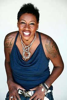 Gina Yashere: Black British Female Comedian from near my ends. Bethnal Green. Her humour and accent make me feel at home (and laugh!). She says exactly what she thinks.