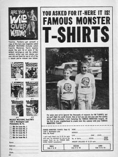 Famous Monster T-Shirts