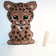 Baby Cheetah hama beads by takacs_anja - Pattern: https://de.pinterest.com/pin/374291419013031074/