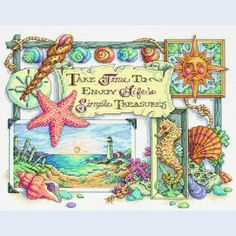 Simple Treasures - Dimensions counted cross stitch kit