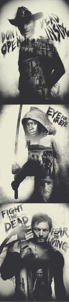 Rick, Michonne, Daryl [The Walking Dead]