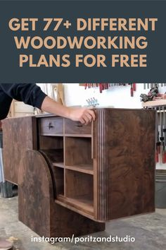 different woodworking plans for free. Folding Furniture, Woodworking Furniture Plans, Woodworking Projects Diy, Furniture Design, Studio Furniture, Free Woodworking Plans, Woodworking Wood, Wood Projects That Sell, Diy Holz