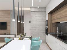 Dining Room Design, Interior Design Living Room, Kitchen Design, Condo Living Room, Living Room Kitchen, Kitchen Island Lighting Modern, Kitchen Layout Plans, Modern Kitchen Interiors, Kitchen Dinning