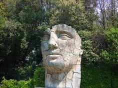 #florence #firenze #toscana #tuscany #italy #boboli #giardino #garden #statue #face