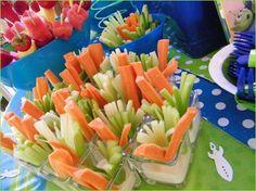Party food idea veggies with ranch already!