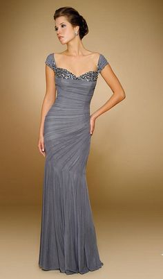 Cap sleeve off the shoulder Beaded Stretch English Net long mother of the bride ruched mermaid dress with matching Shawl