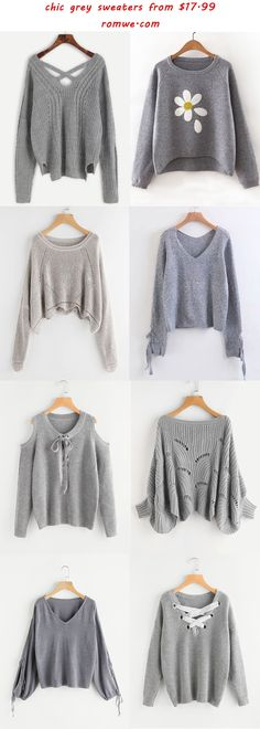 chic grey sweaters 2017 - romwe.com