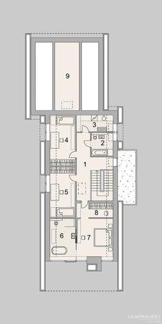 Projekty domów LK Projekt LK&1329    rzuty Piętro