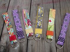 super saturday idea ... Fabric Keychains, Could even make lanyards