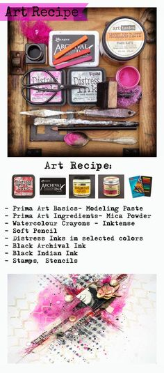 Finnabair: Art Recipe Wednesday: Move Me - texture and colours