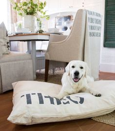 Natural Dog Bed Cover via Bow Wow Beds | Homemade Dog Treats and DIY Projects for Dogs