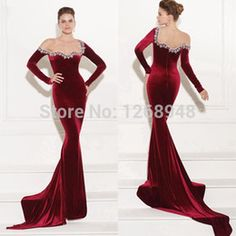 Ruby red evening dresses