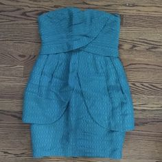 Selling this Teal Tracy Reese strapless sundress in my Poshmark closet! Size 8. My username is: sarahtbaum. #shopmycloset #poshmark #fashion #shopping #style #forsale #TracyReese #Dresses
