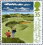Scottish Golf Courses 35p Stamp (1994) The 8th Hole ('The Postage Stamp'), Royal Troon