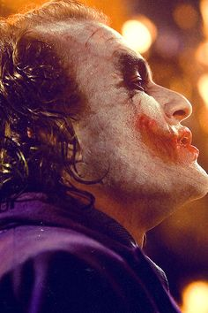 "Christopher Nolan on Heath Ledger as the Joker: ""Everything about what he does from every gesture, every little facial tick, everything he's doing with his voice—it all speaks to the heart of this character. It all speaks to this idea of a character who's devoted to a concept of pure anarchy and chaos. It's hard to get a handle on how those elements combine."""